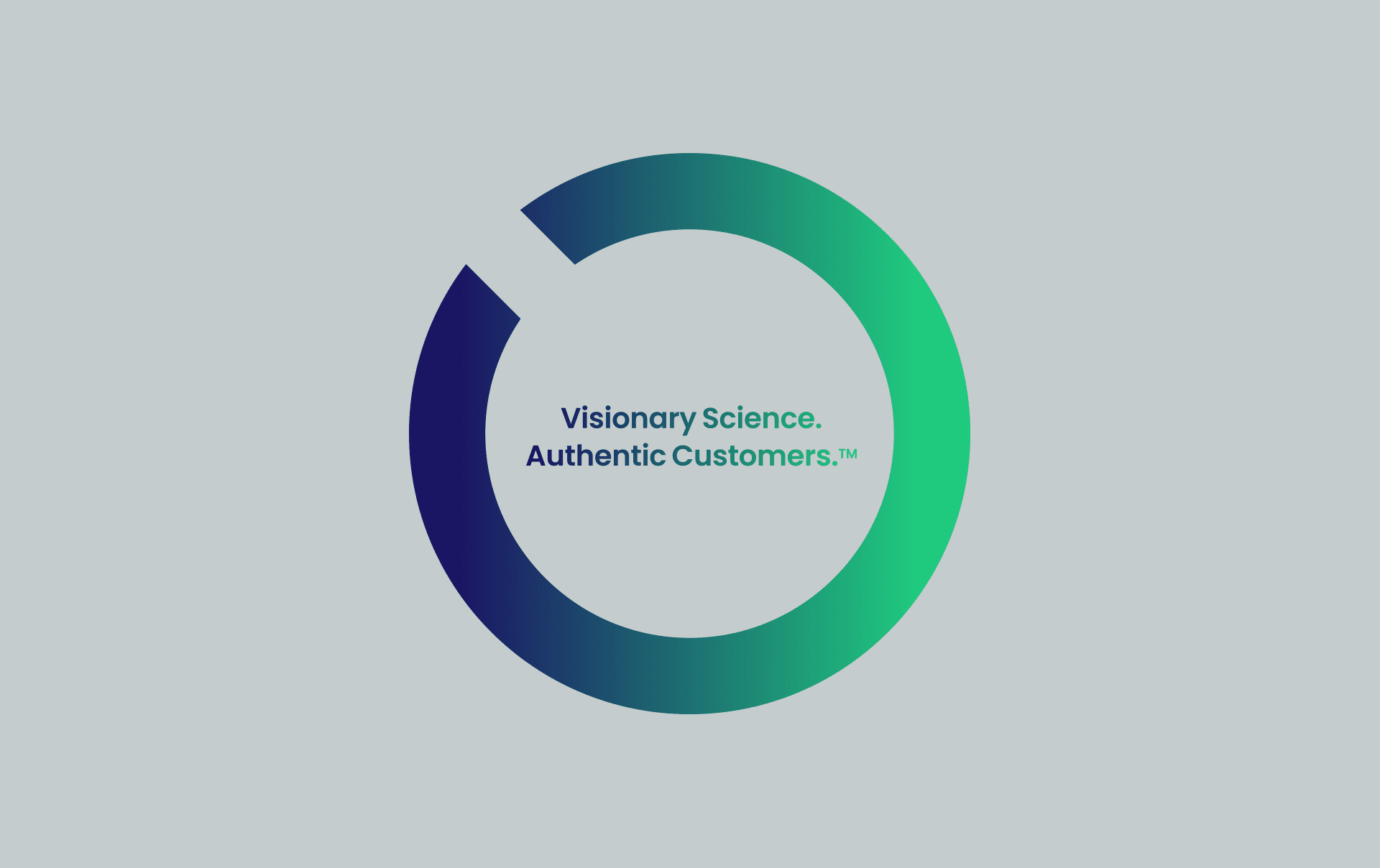 Outseer logo Visionary Science. Authentic Customers.