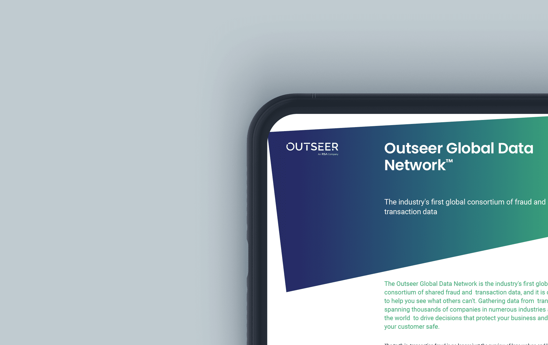 Outseer global Data Network graphic